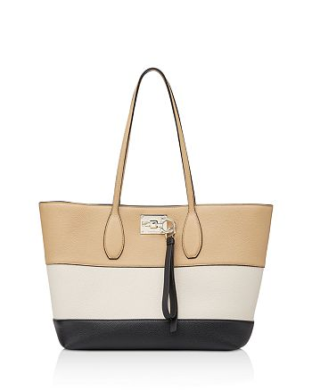 Salvatore Ferragamo - The Studio Color Block Leather Tote