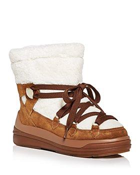 Moncler - Women's Insolux Faux Fur Cold Weather Boots