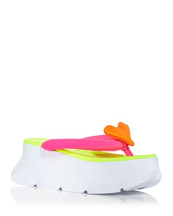 Joshua Sanders - Women's Color Block Platform Wedge Flip Flops