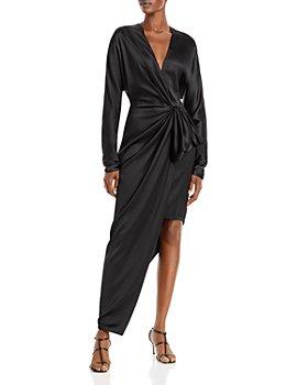 Cushnie - Silk Draped Asymmetric Dress
