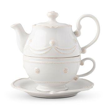 Juliska - Berry & Thread Whitewash Tea for One with Saucer