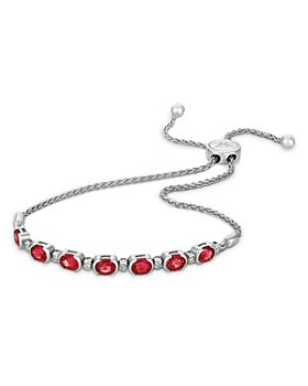 Bloomingdale's - Ruby and Nude Diamond Bolo Bracelet in 14K White Gold - 100% Exclusive