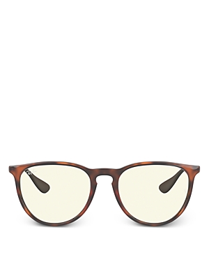 Ray Ban RAY-BAN UNISEX ROUND BLUE LIGHT GLASSES, 53.7MM