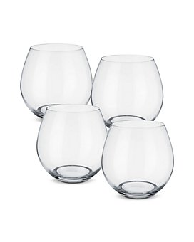 Villeroy & Boch - Entree Juice/Red Wine Stemless Glasses, Set of 4