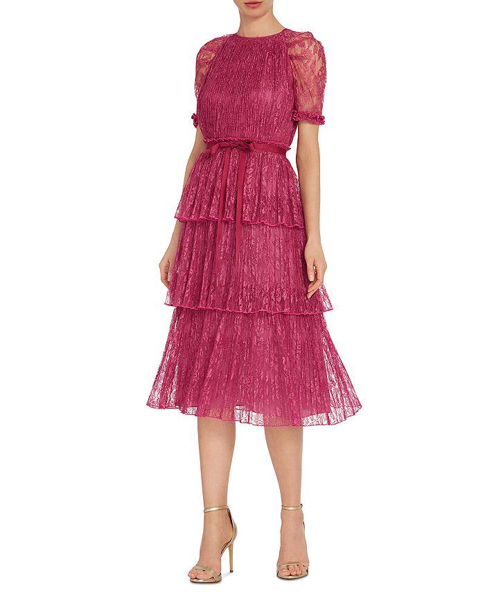 ML Monique Lhuillier - Lace Tiered Midi Dress