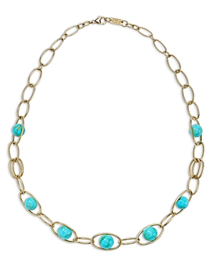 Ippolita 18K Yellow Gold Nova Turquoise Station Necklace, 17-Jewelry & Accessories