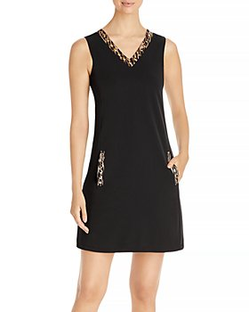 T Tahari - Embellished V Neck Dress