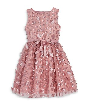 US Angels - Girls' 3D Floral Dress - Little Kid