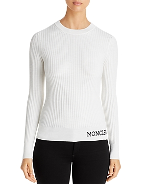 MONCLER RIBBED WOOL SWEATER