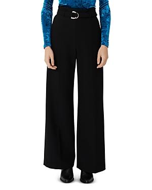 Maje Parc Belted Wide-Leg Pants-Women