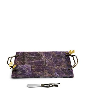 Michael Aram - Butterfly Ginkgo Luxe Cheeseboard and Spreader - 100% Exclusive