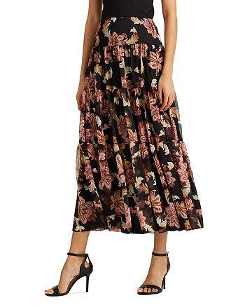 Ralph Lauren - Printed Tiered Midi Skirt
