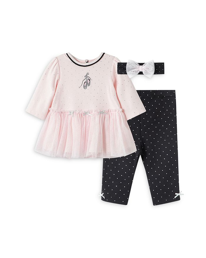 Little Me - Girls' Ballet Dot Print Tunic, Leggings & Headband Set - Baby