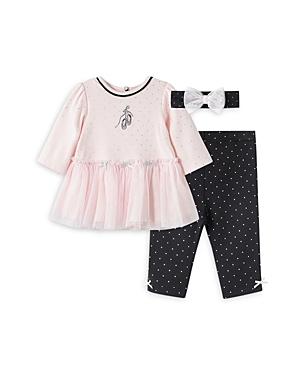 Little Me Girls\\\' Ballet Dot Print Tunic, Leggings & Headband Set - Baby-Kids