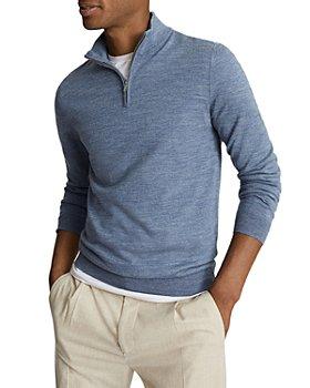 REISS - Blackhall Merino Wool Half Zip Sweater