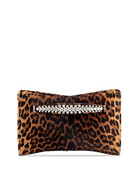 Jimmy Choo - Venus Small Degrade Leopard Print Calf Hair Clutch