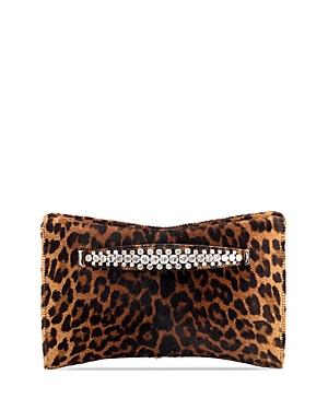 Jimmy Choo Venus Small Degrade Leopard Print Calf Hair Clutch-Handbags