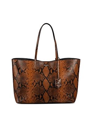 Jimmy Choo Nine2Five Large Snake Embossed Leather Tote-Handbags