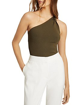 REISS - Thea Twisted One Shoulder Top