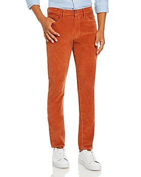 Joe's Jeans - Asher Corduroy Slim Fit Pants in Orange Rust