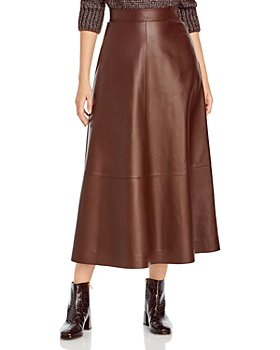 Lafayette 148 New York - Sumner Midi Leather Skirt