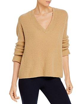 Vince - Shaker Rib V Neck Cashmere Sweater