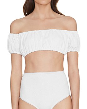 Faithfull the Brand - Off-the-Shoulder Bikini Top & High Waist Bottoms
