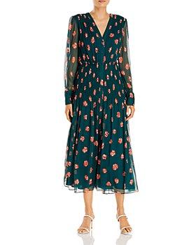 Jason Wu - Floral Print Silk Midi Dress