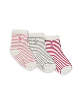 Ralph Lauren - St. James Striped Socks, 3 Pack - Baby