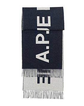 A.P.C. - Wool Angele Logo Scarf