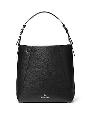 Michael Michael Kors Lucy Large Leather Hobo Shoulder Bag