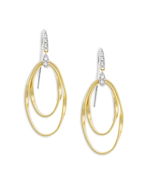 Marco Bicego 18K Yellow Gold Onde Double Loop Hook Earrings-Jewelry & Accessories
