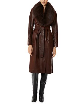 Nour Hammour - Uptown Girl Shearling Collar Trench Coat