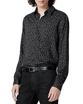 The Kooples - Long Black Printed Shirt