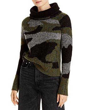 AQUA - Knit Camo Print Sweater - 100% Exclusive