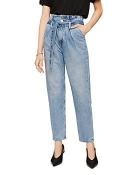 Anine Bing - Everly Paper Bag Waist Jeans in Blue