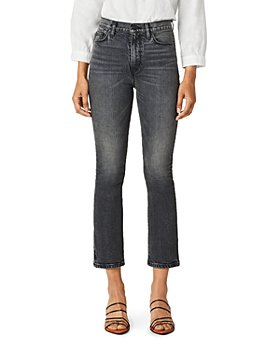 Hudson - High Rise Cropped Bootcut Jeans in Black Lightning