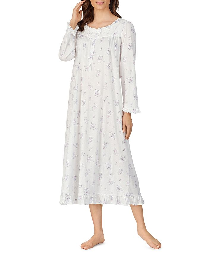 Eileen West COZY COTTAGE FLORAL PRINT NIGHTGOWN