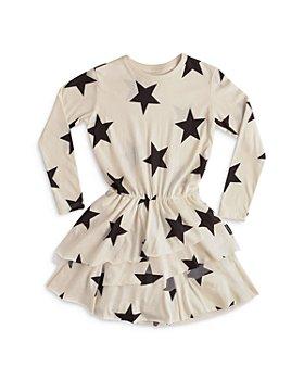 NUNUNU - Girls' Star Layered Dress - Little Kid