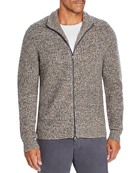 The Men's Store at Bloomingdale's - Wool Blend Textured Full Zip Cardigan - 100% Exclusive