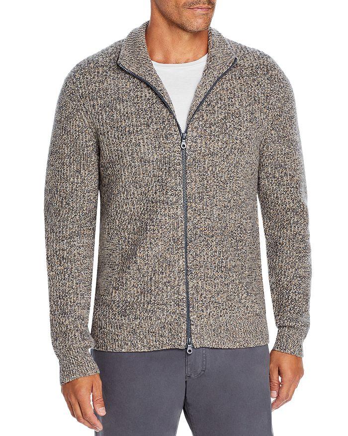 The Men's Store at Bloomingdale's - Wool Blend Textured Full Zip Cardigan - 100% Exclusive