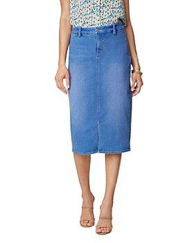 NYDJ - Braided Trim Denim Midi Skirt in Edgewater