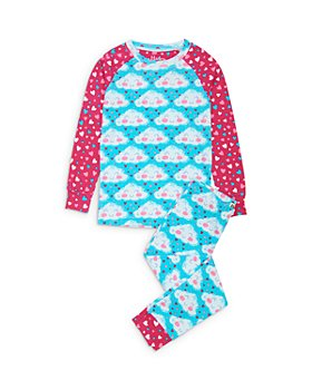 Hatley - Girls' Cheerful Clouds Cotton Pajamas - Little Kid, Big Kid