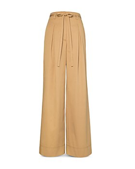 Tory Burch - Cotton Twill Wide Leg Trousers