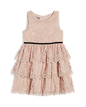 Pippa & Julie - Girls' Kamila Blush Lace Tiered Skirt Dress - Big Kid