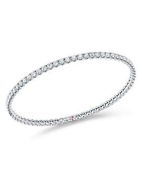 Roberto Coin - 18K White Gold Diamond Bangle Bracelet