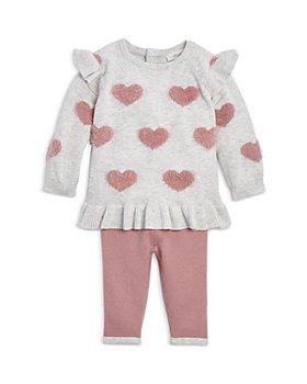 Miniclasix - Girls' Heart Sweater & Sweater Leggings Set - Baby