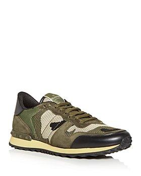 Valentino Garavani - Men's Mesh Fabric Camouflage Rockrunner Sneakers