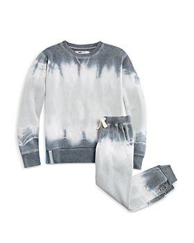 Vintage Havana - Boys' Burnout Tie Dyed Sweatshirt & Jogger Pants Set - Little Kid, Big Kid