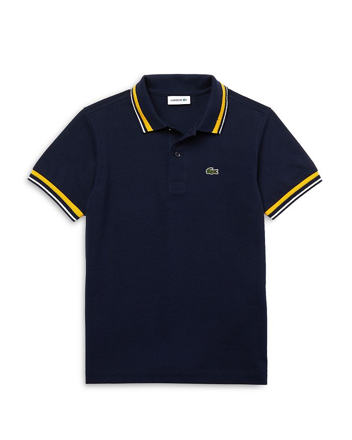 Lacoste - Boys' Short Sleeve Ribbed Polo Shirt - Little Kid, Big Kid